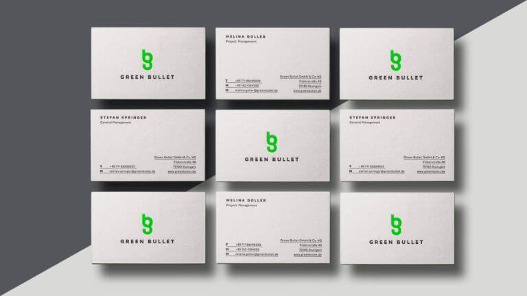 Green Bullet Branding, Grafikdesign, Corporate Design, Design von der Designagentur Yummy Stories