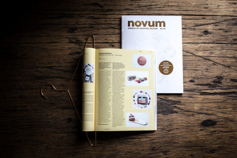 Yummy Stories Artikel in Novum World of Graphic Design Pâtisserie Ludwig Pa