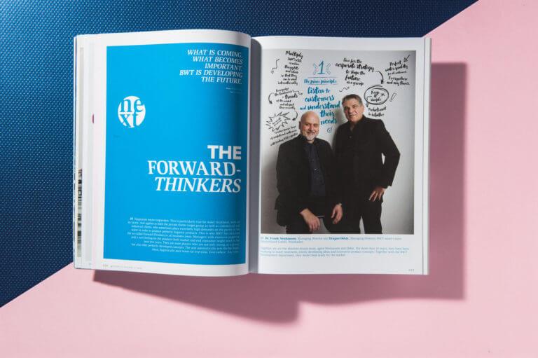 Corporate Publishing, Editorial Design und Redaktion Kunden Magazin Water Passion der BWT AG Mondsee von der Designagentur Yummy Stories
