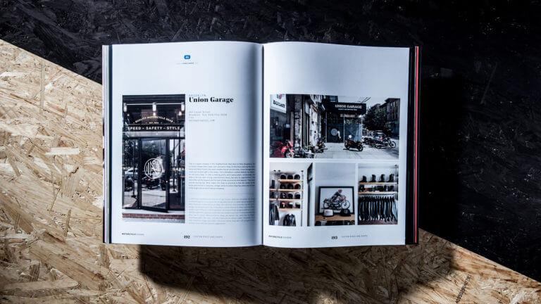 Editorial Design vom Buch Motorcycle Passion - Buchgestaltung von der Designagentur Yummy Stories