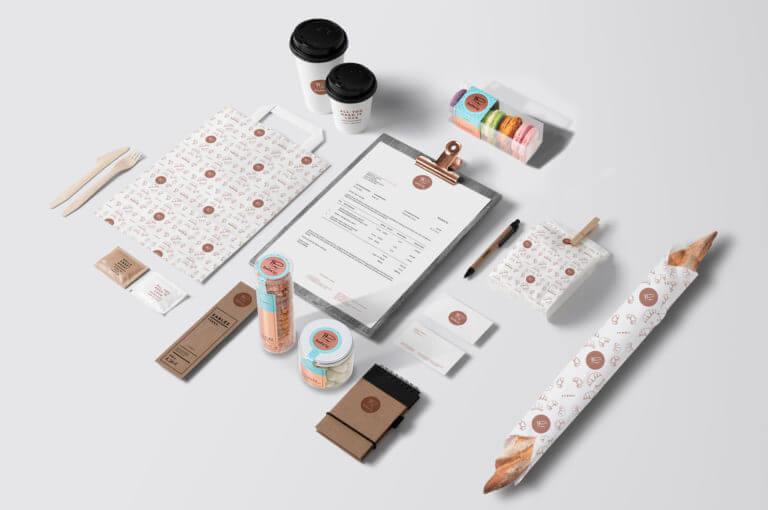 Visuelles Erscheinungsbild, Design und Kommunikation Pâtisserie Ludwig - Karlsruhe - Design der Etiketten, Logo und Branding, Marketing, Website, Onlineshop von der Designagentur Yummy Stories