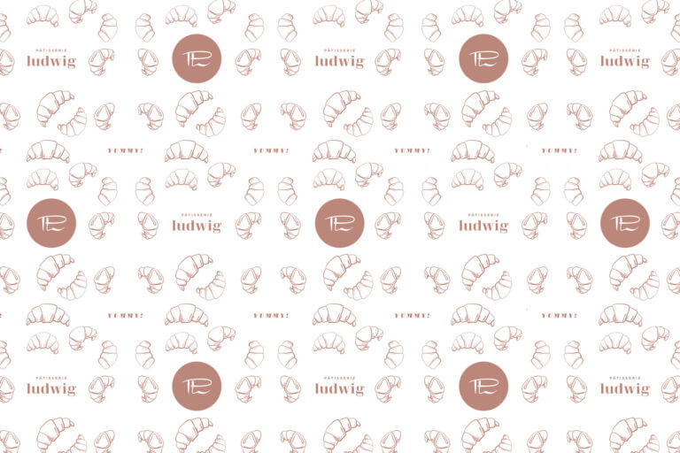 Foodmarketing Design und Kommunikation Pâtisserie Ludwig - Karlsruhe - Design der Etiketten, Logo und Branding, Marketing, Website, Onlineshop von der Designagentur Yummy Stories