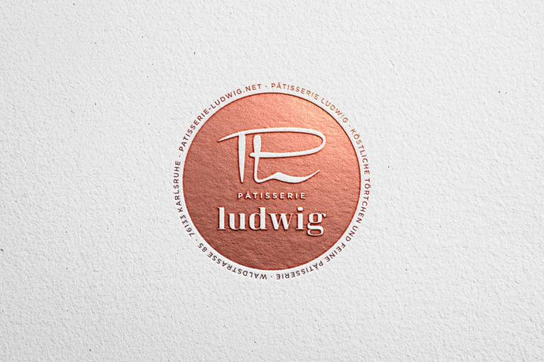 Logo Design und Kommunikation Pâtisserie Ludwig - Karlsruhe - Design der Etiketten, Logo und Branding, Marketing, Website, Onlineshop von der Designagentur Yummy Stories