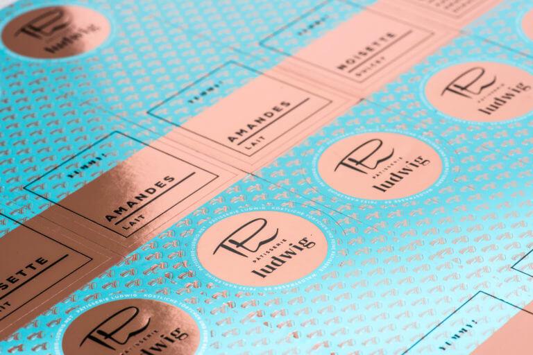 Logo, Design und Kommunikation Pâtisserie Ludwig - Karlsruhe - Design der Etiketten, Logo und Branding, Marketing, Website, Onlineshop von der Designagentur Yummy Stories