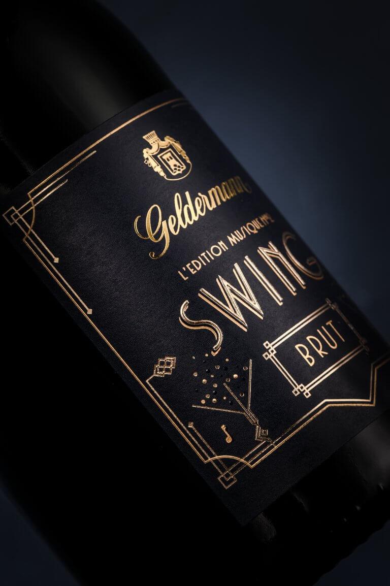 Weinetiketten Design, Wein Packaging Design, Content, Video, Digital und Kommunikation der Edition Musique No.2 für die Geldermann Privatsektkellerei von der Designagentur Yummy Stories